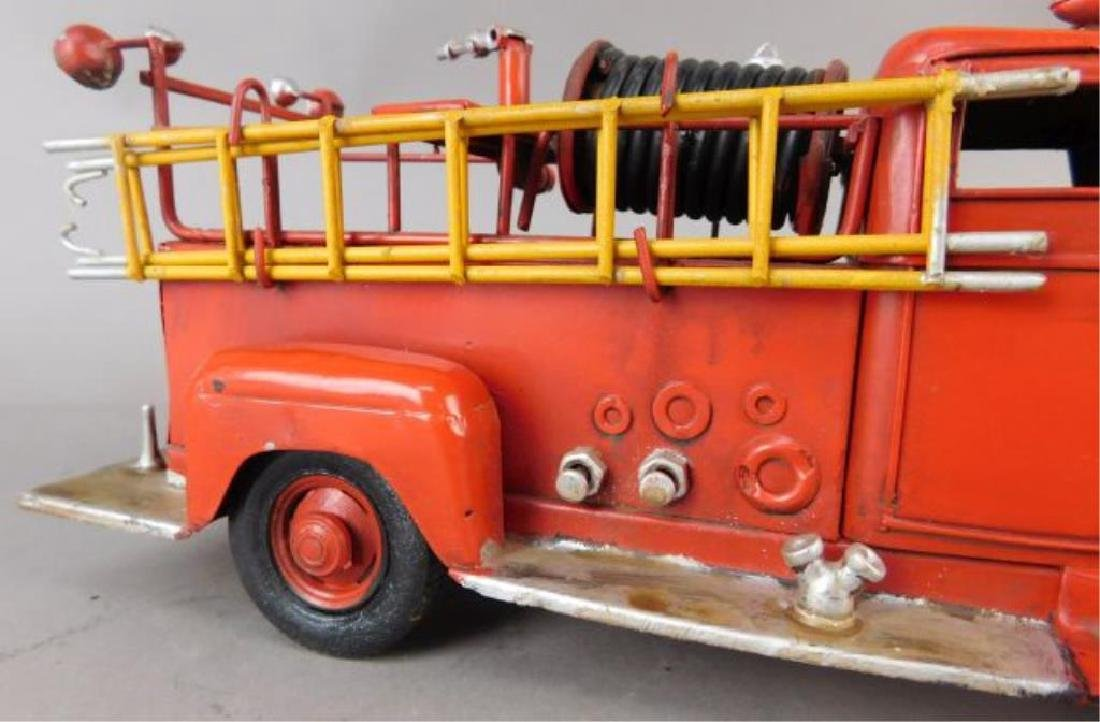 Red Metal Fire Truck - 2