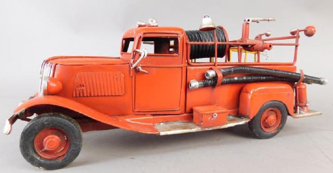 Red Metal Fire Truck - 4