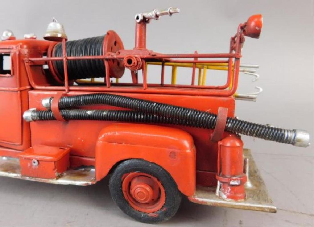 Red Metal Fire Truck - 5