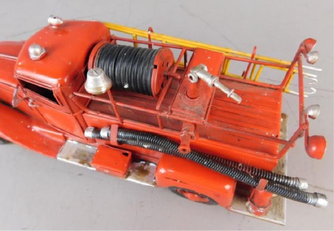 Red Metal Fire Truck - 6