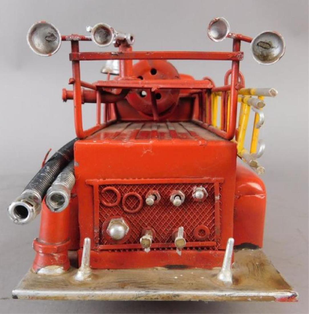 Red Metal Fire Truck - 7