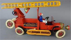 German Litho Tin Fire Truck