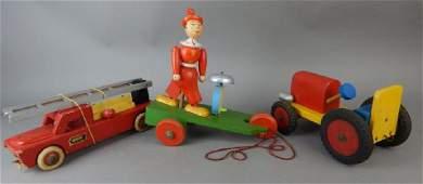 Three Wood Pull Toys