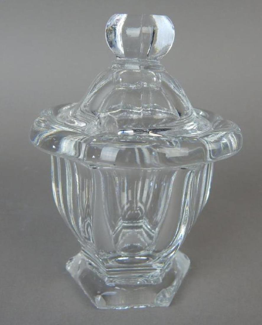 Pedestal Baccarat Jelly Jar with Lid