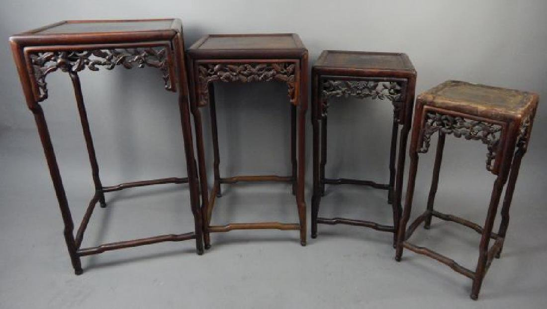 Chinese Wood Carved Nesting Tables