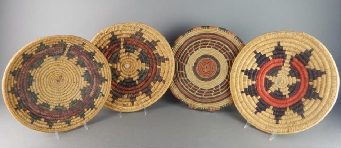 4 Native American Hand Made Baskets
