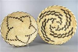 Two Native American Baskets By The Papago Indians