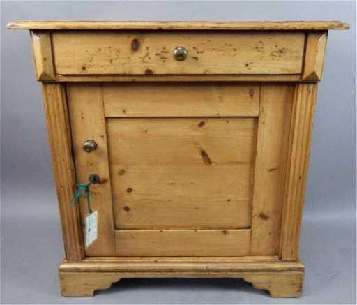 - Antique Dutch Pine Bedside Cabinet