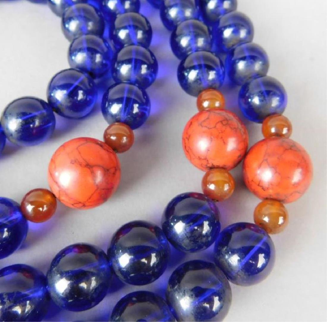 Large Chinese Crystal and Wood Necklace - 2