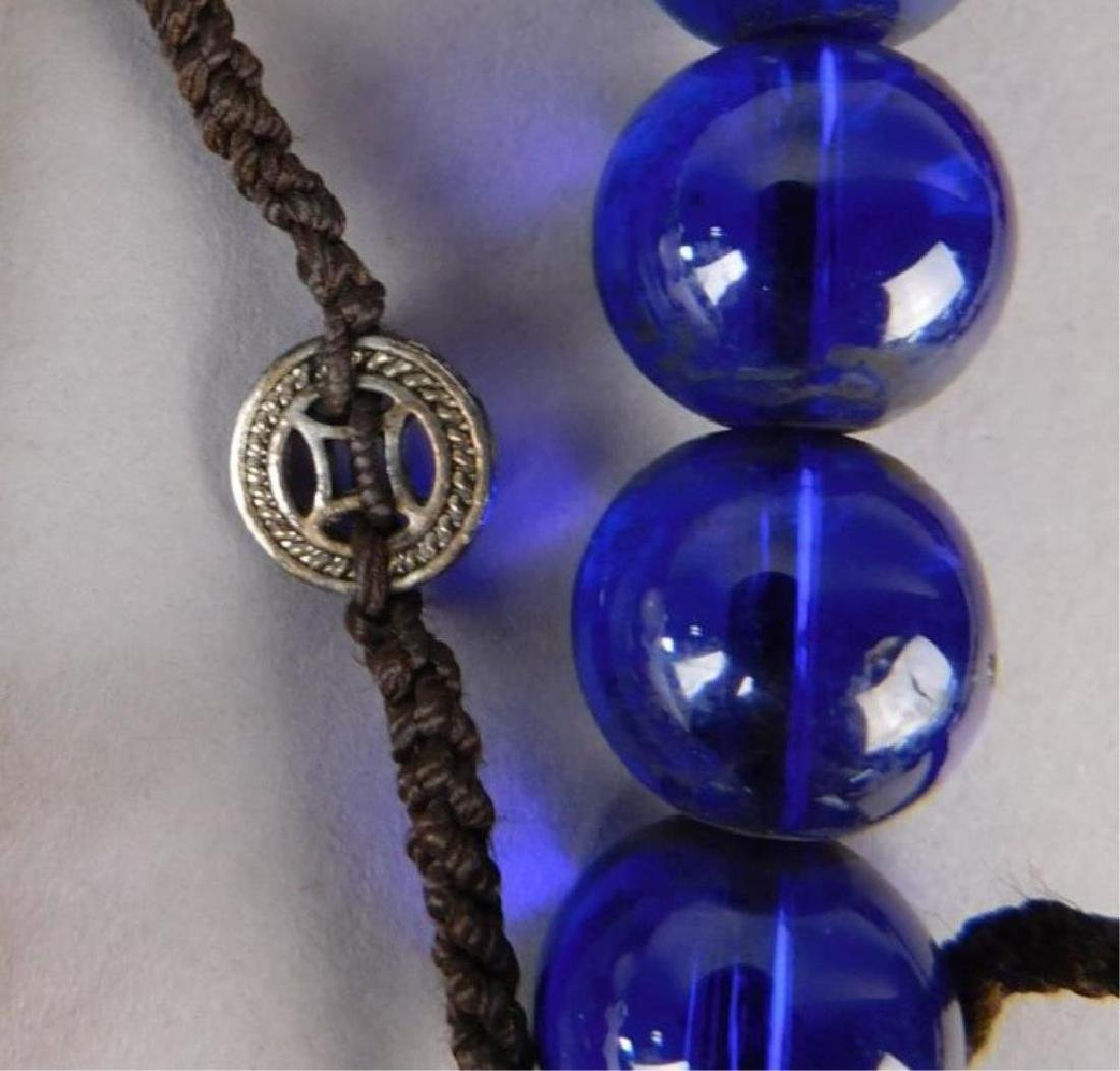 Large Chinese Crystal and Wood Necklace - 4