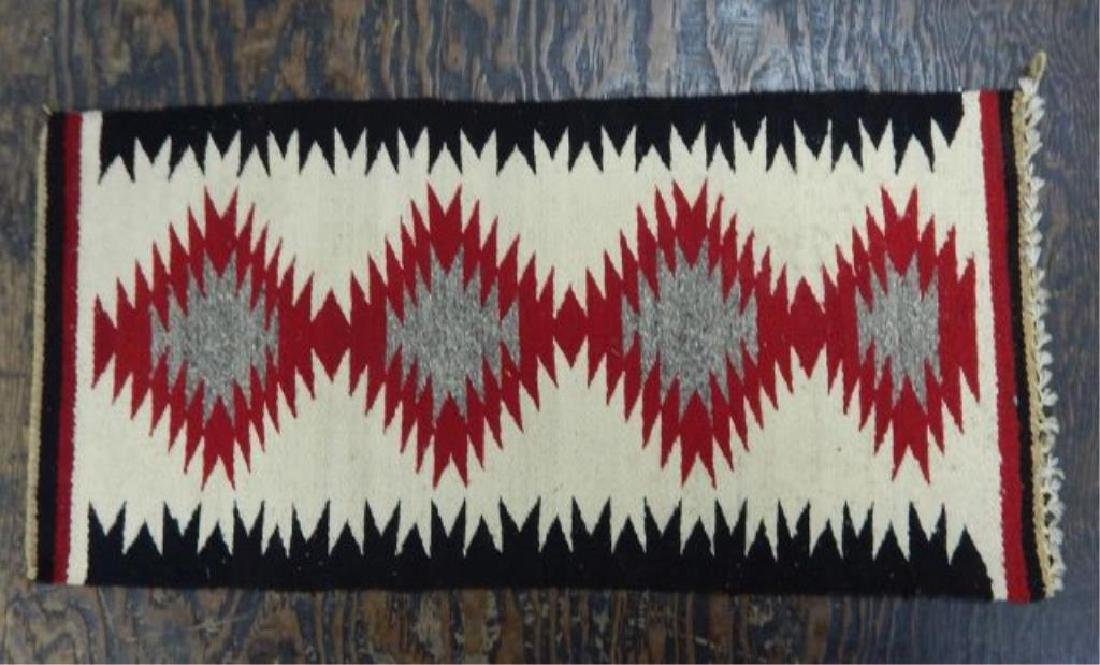 "Native American Hand Made Rug 38"" x 19"""