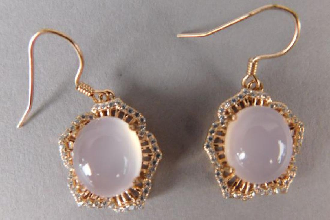 Pink Crystal Ring and Earrings - 4