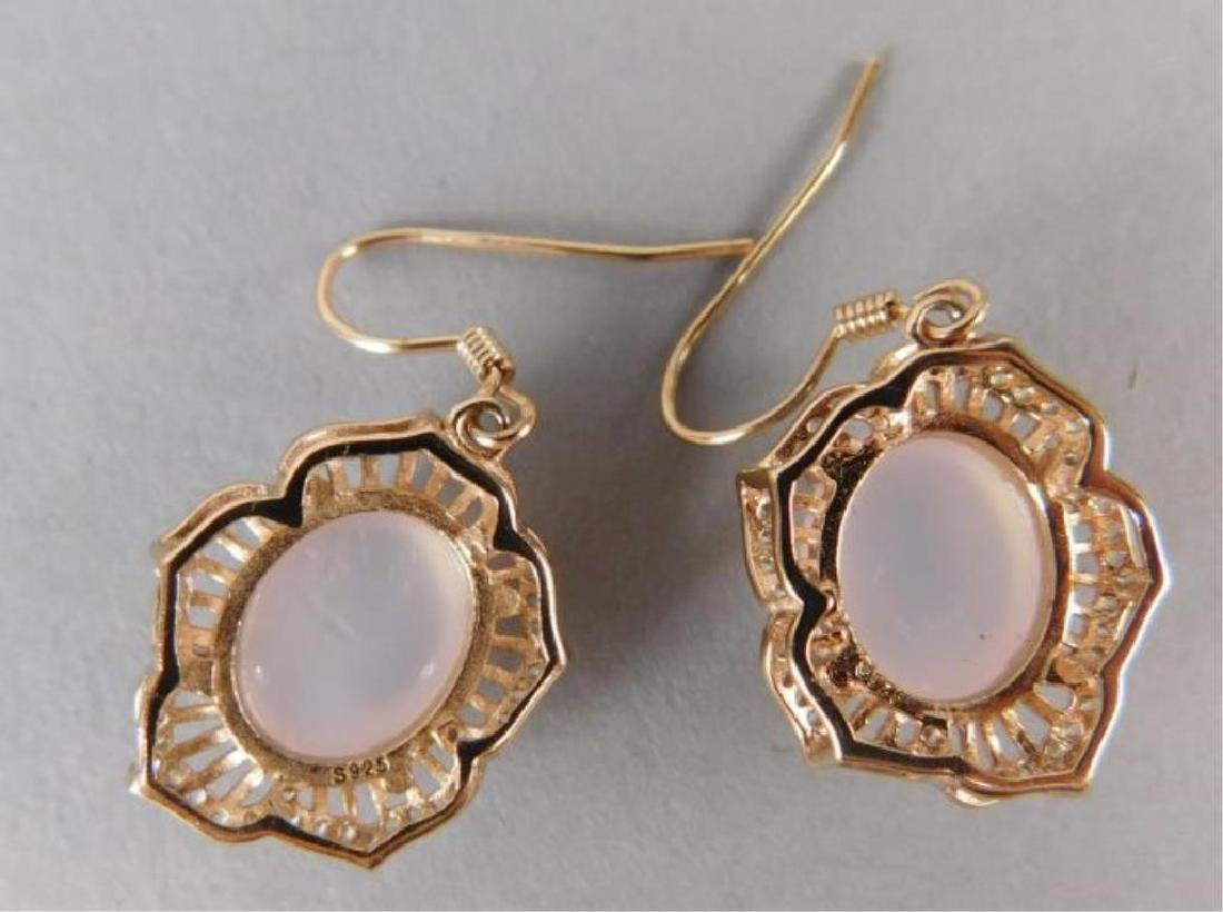 Pink Crystal Ring and Earrings - 6