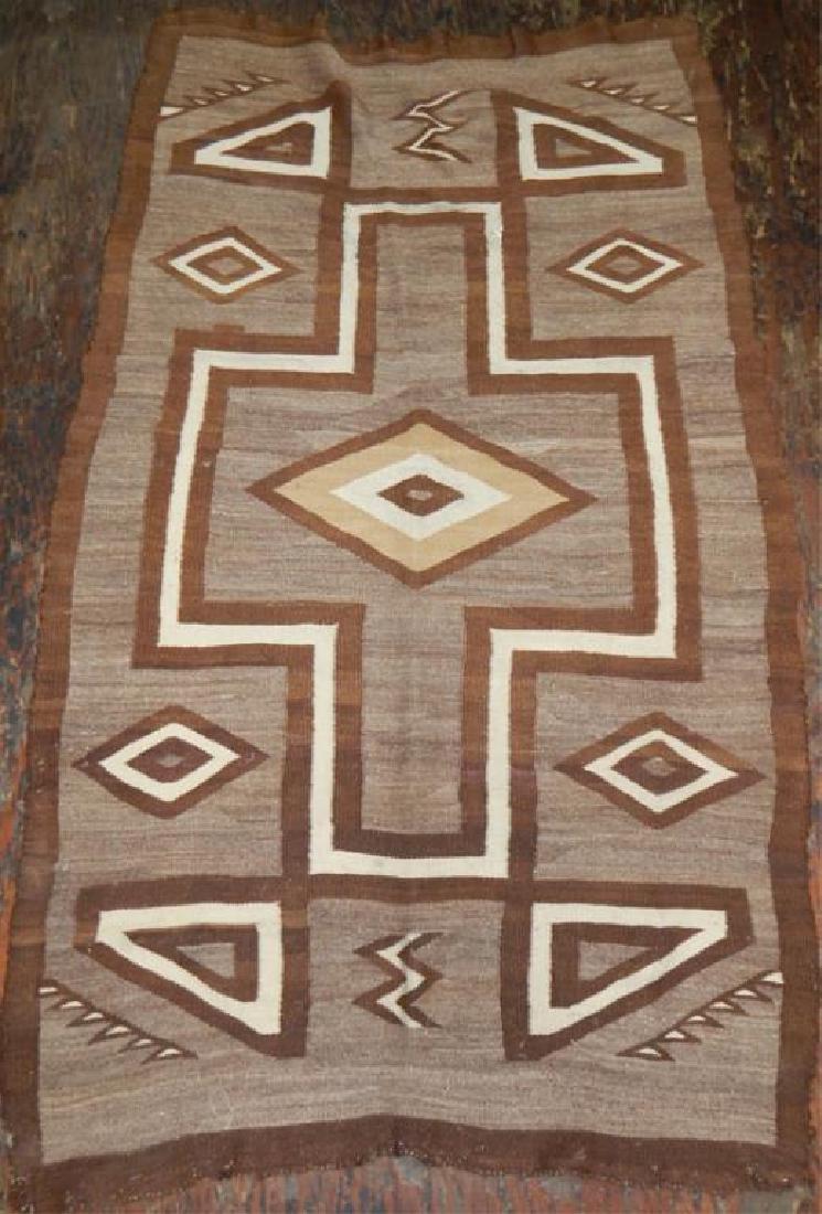 "Native American Hand Made Rug 70"" x 39"""
