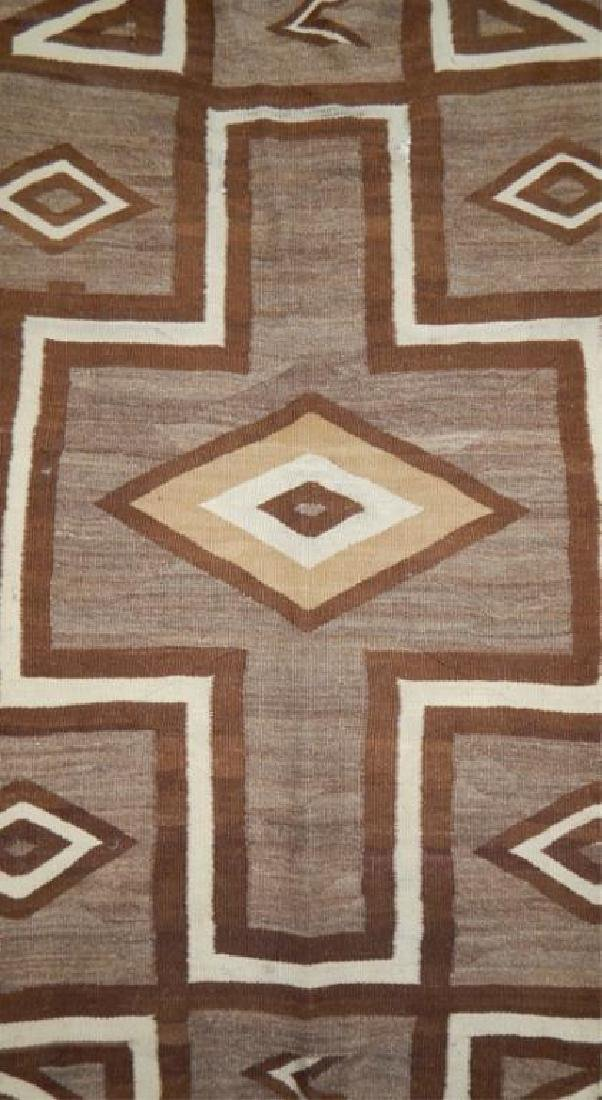 "Native American Hand Made Rug 70"" x 39"" - 3"