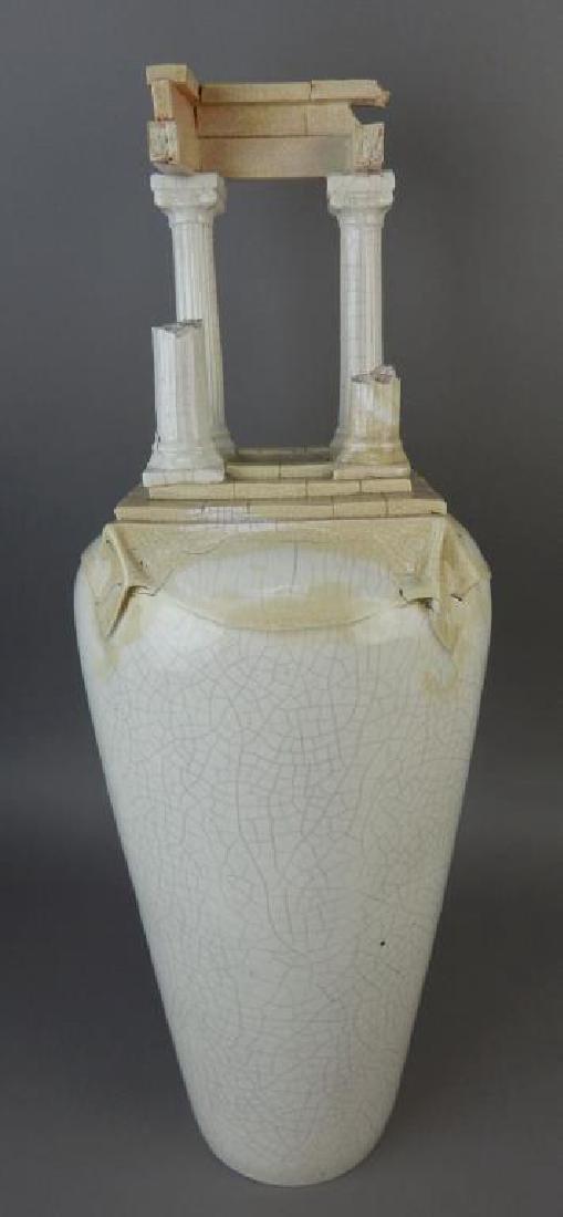 Porcelain Roman Pillar Shaped Vase