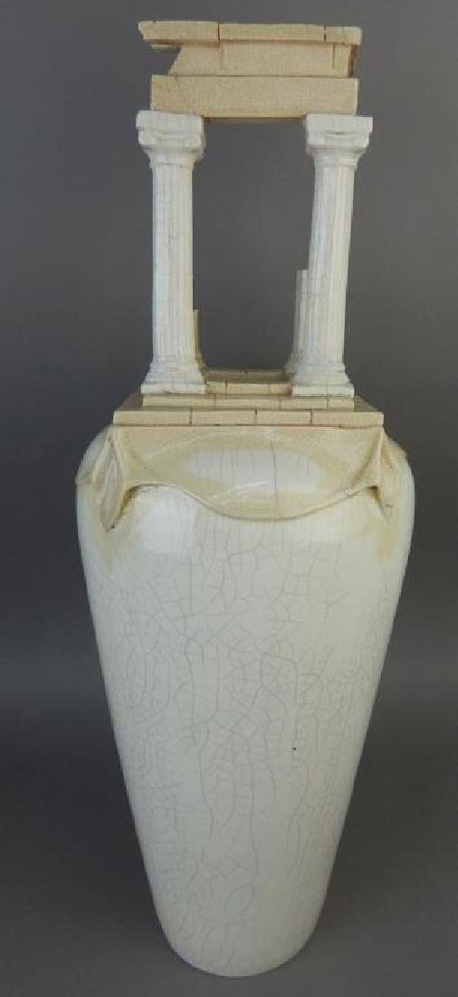 Porcelain Roman Pillar Shaped Vase - 3