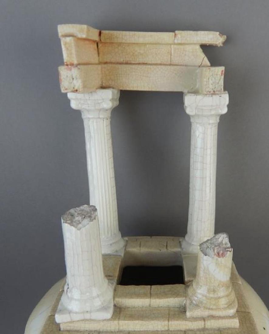 Porcelain Roman Pillar Shaped Vase - 5