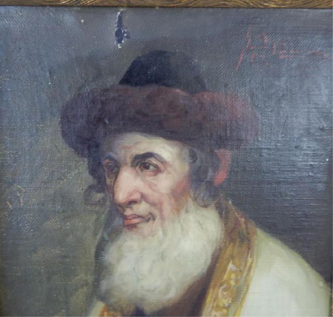 Judaica Rabbi Oil on Canvas on Panel - 2
