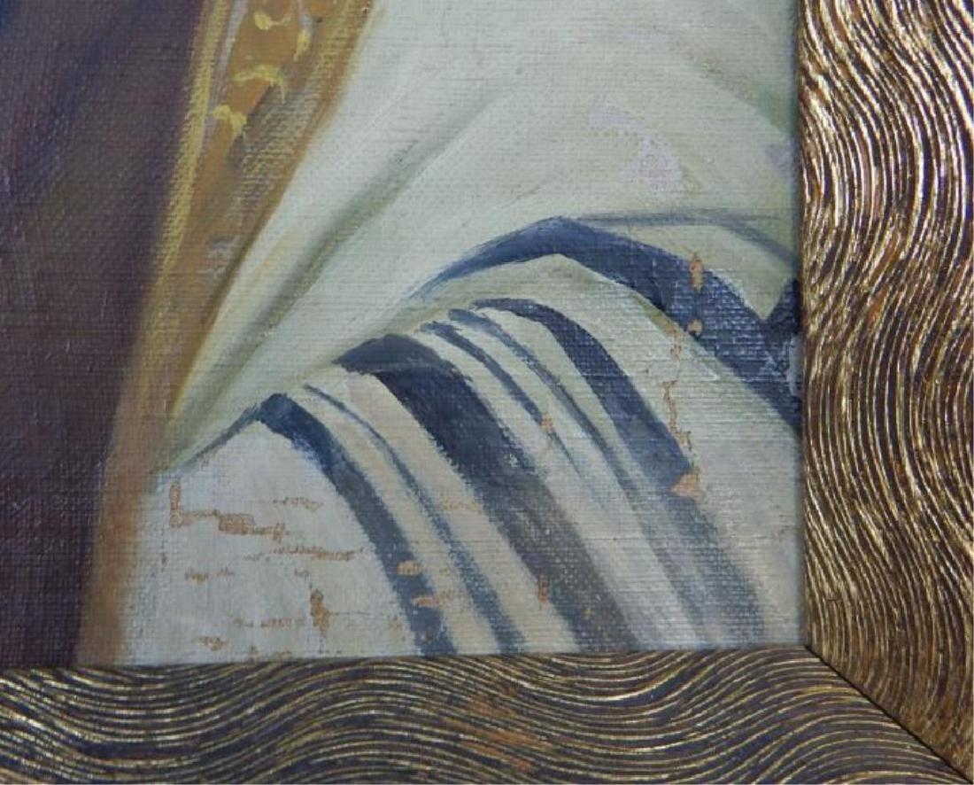 Judaica Rabbi Oil on Canvas on Panel - 3