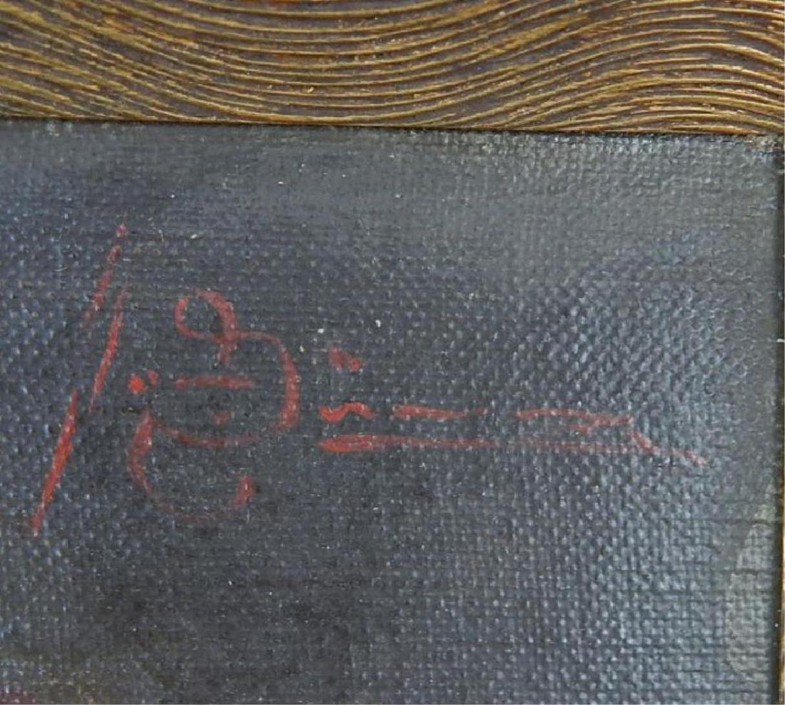 Judaica Rabbi Oil on Canvas on Panel - 4