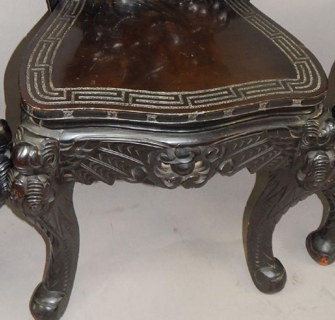 19th Century Japanese Carved Dragon Side Chair - 3