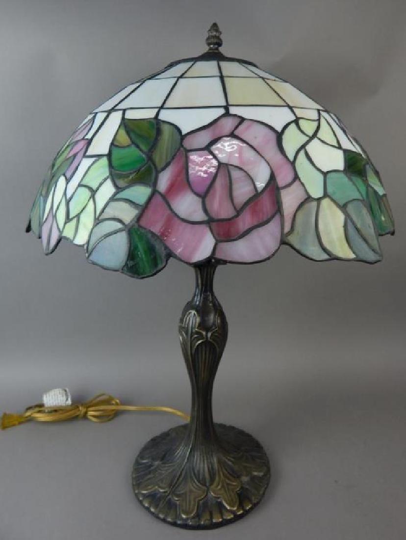 Bronze Base Tiffany Style Lamp