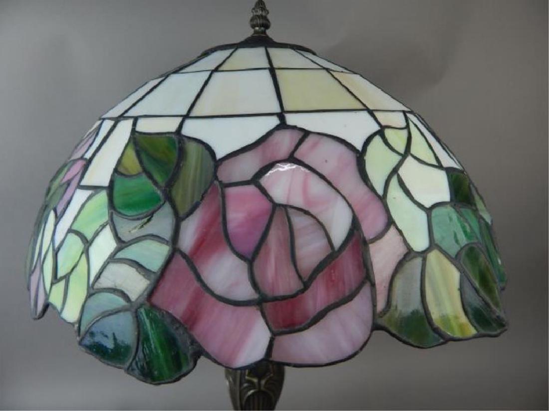 Bronze Base Tiffany Style Lamp - 2