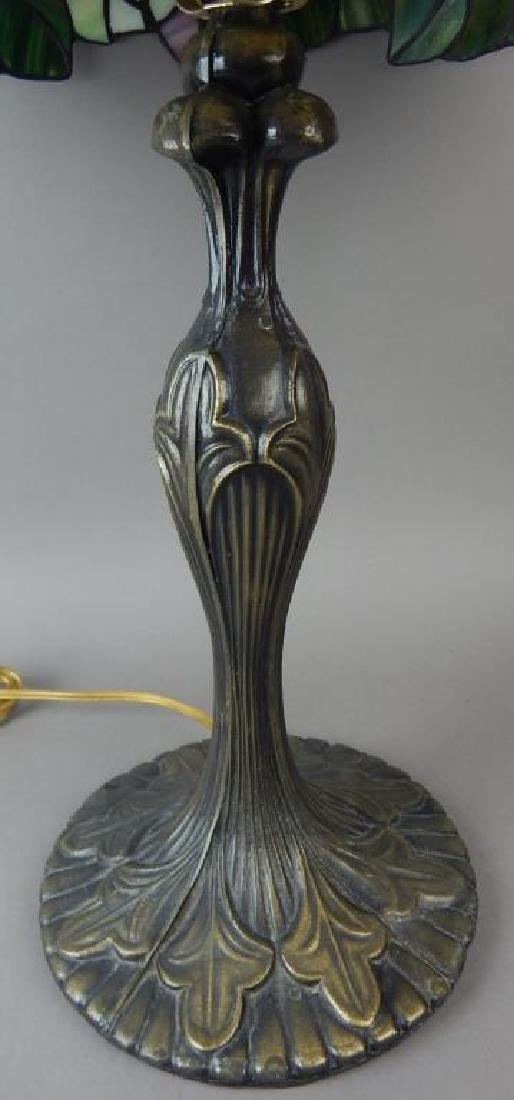 Bronze Base Tiffany Style Lamp - 3