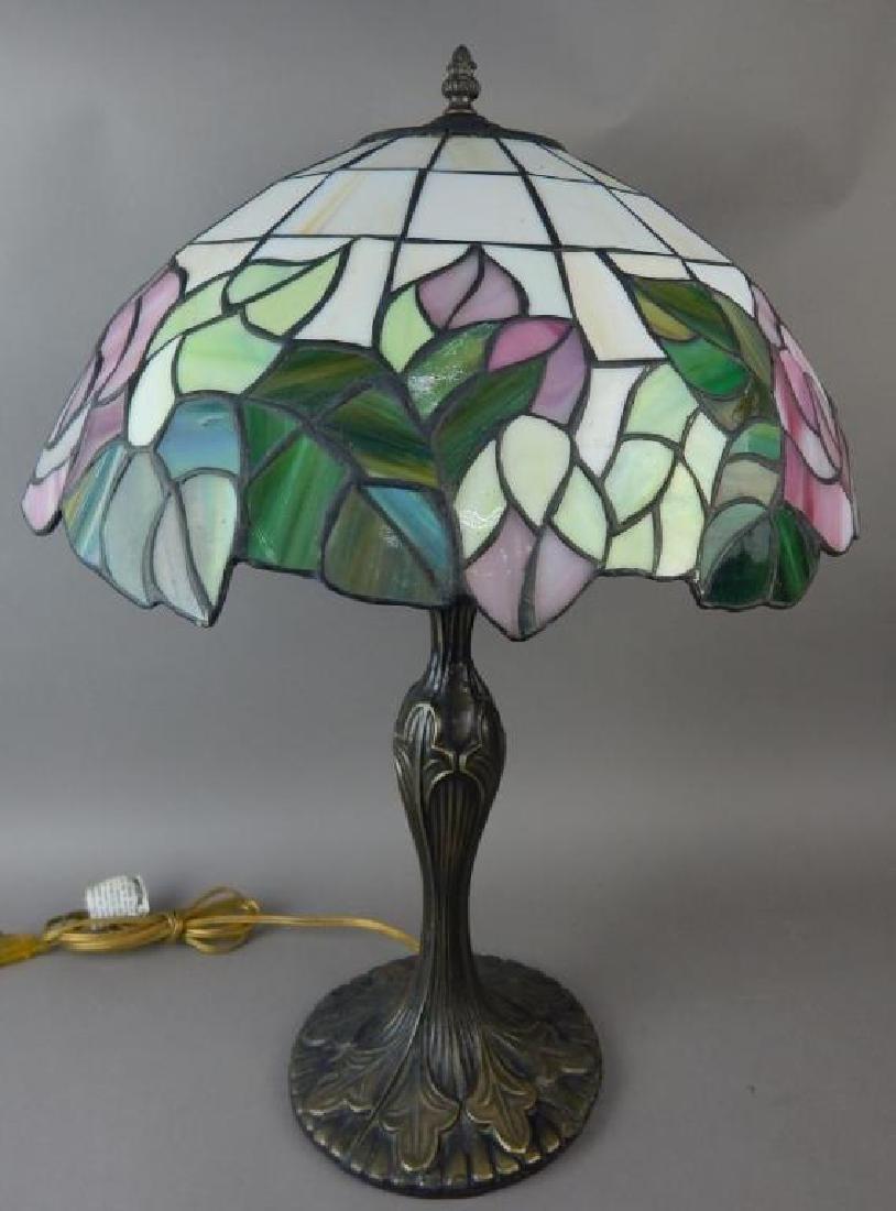 Bronze Base Tiffany Style Lamp - 4