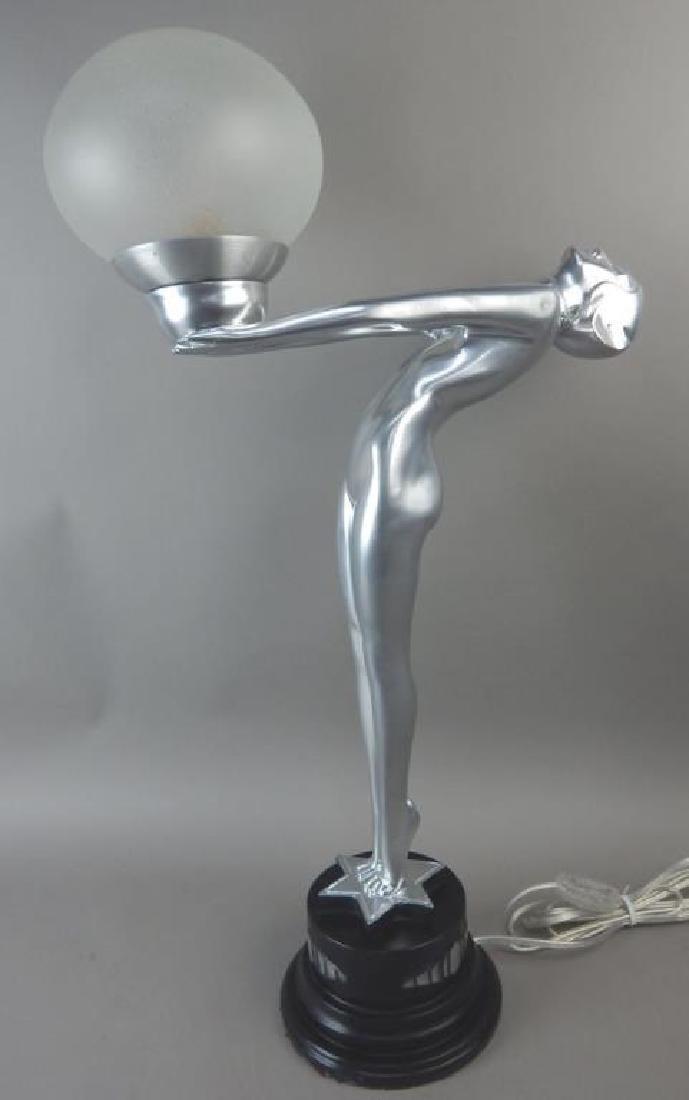Art Deco Style Nude Lady Lamp