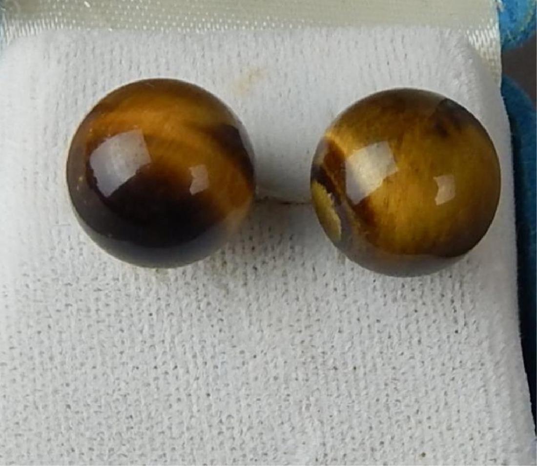 Pair Tiger Eye Earrings