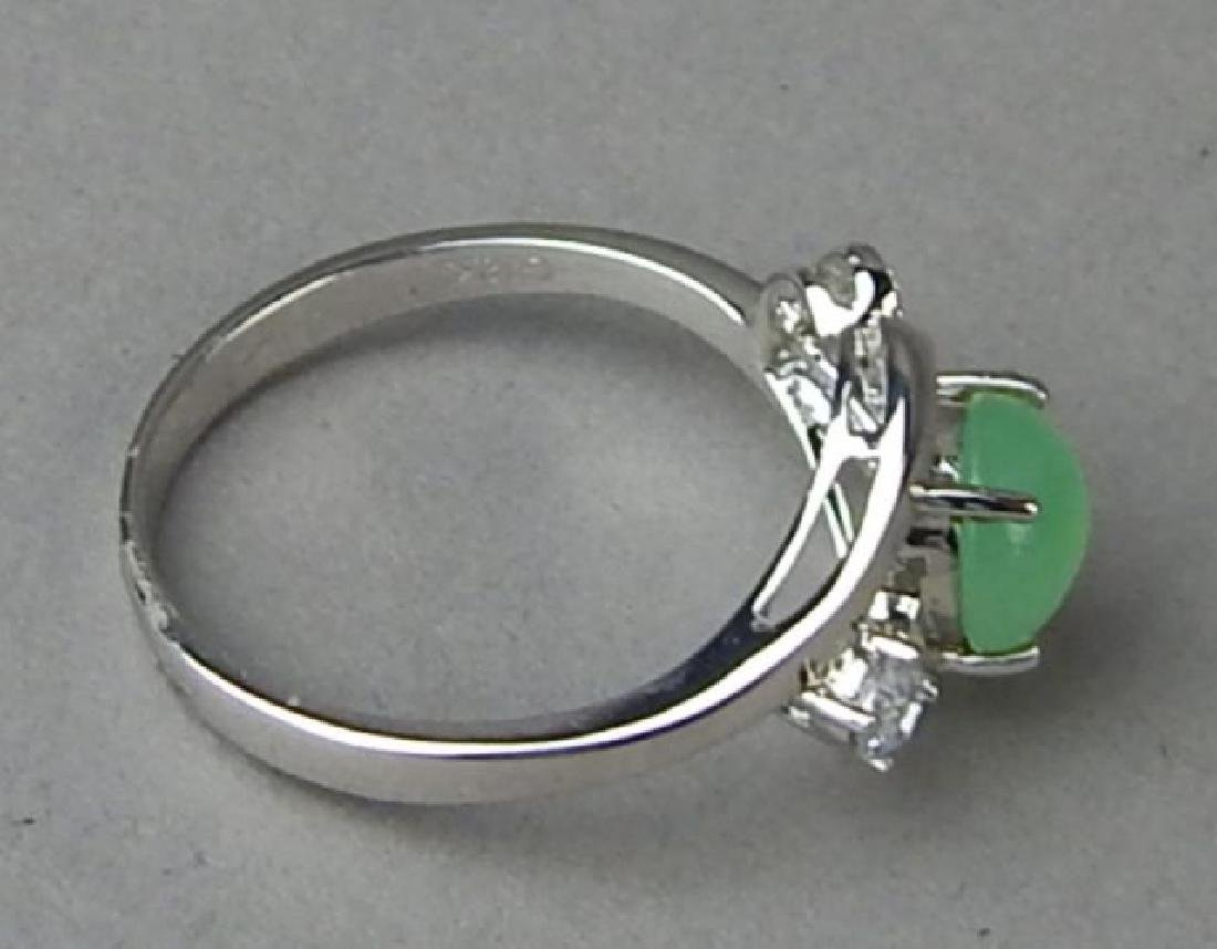 Green Jade and Diamond Ring and Pendant - 6