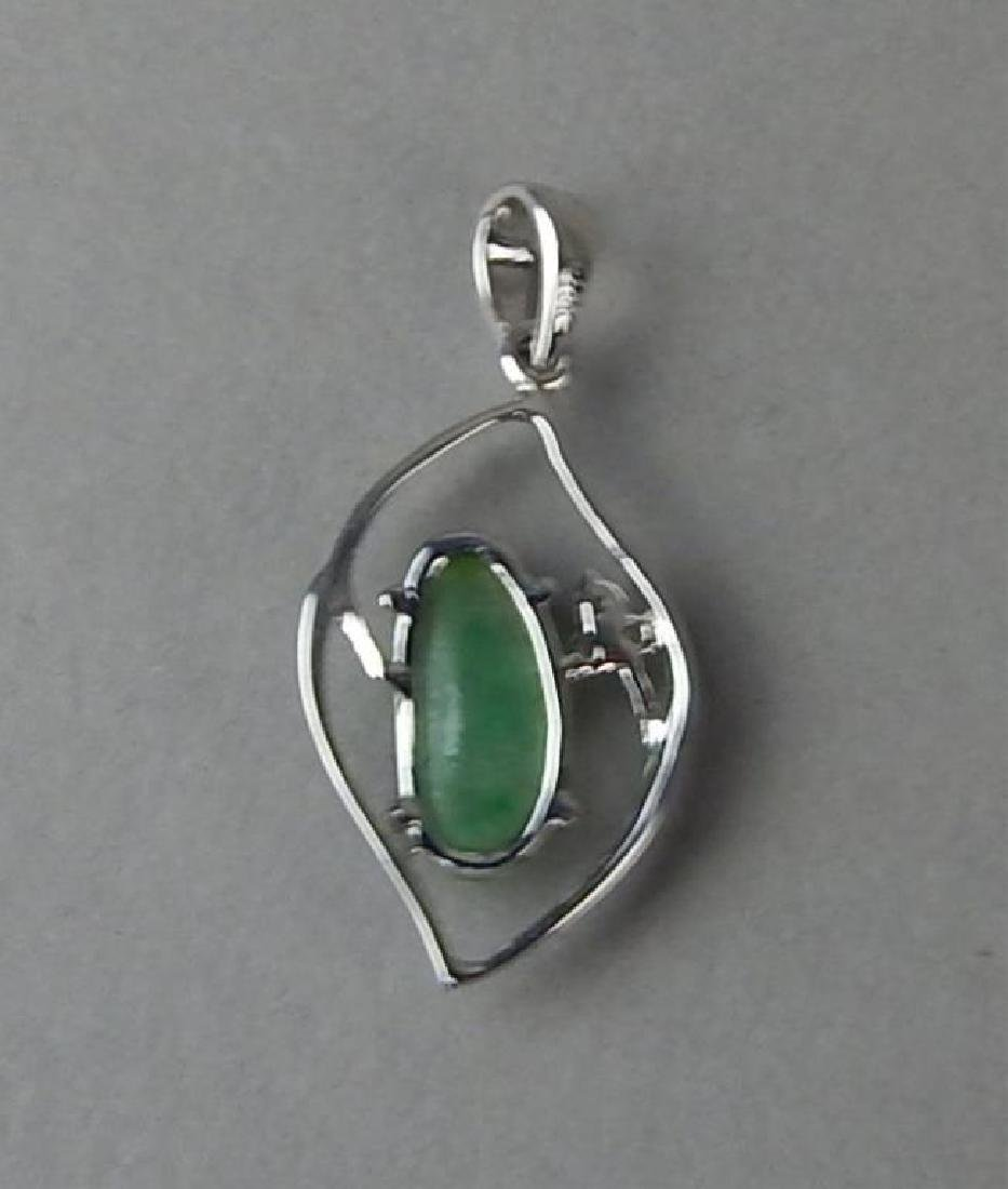 Green Jade and Diamond Ring and Pendant - 8