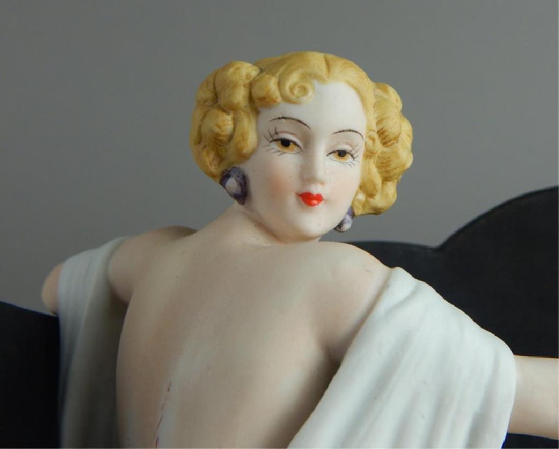 Art Deco Style Icart Lady on Sofa Figurine - 2