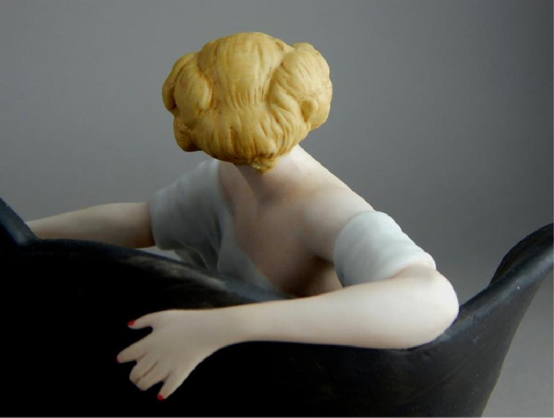 Art Deco Style Icart Lady on Sofa Figurine - 5