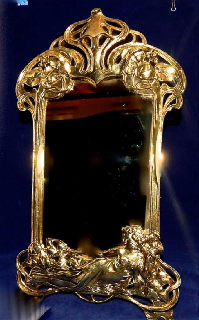 Art Nouveau Vanity Top Mirror