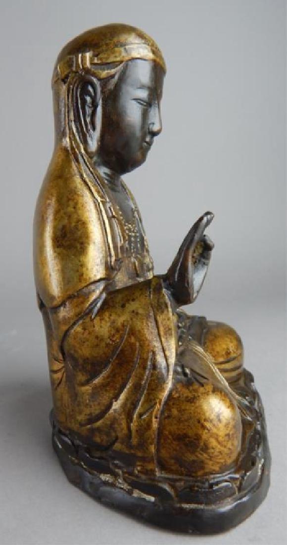 Gilt Metal Seated Goddess - 5