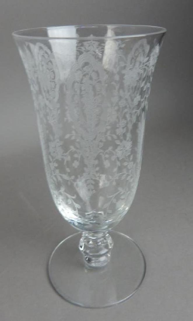 Fourteen Pieces Etched Fostoria Crystal Glasses - 4