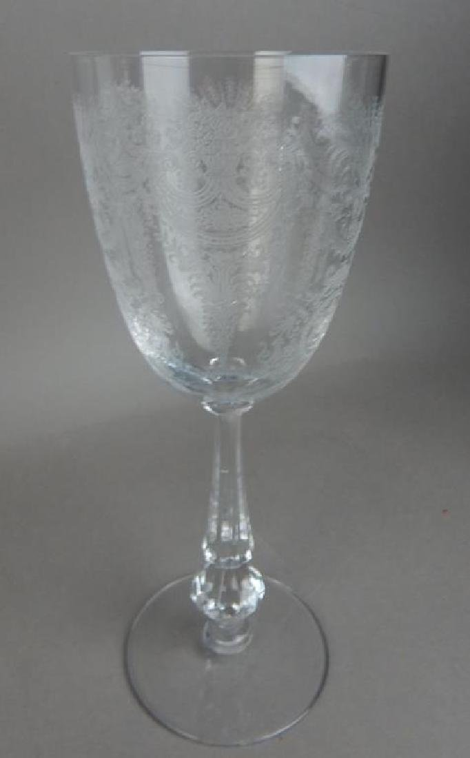 Fourteen Pieces Etched Fostoria Crystal Glasses - 5