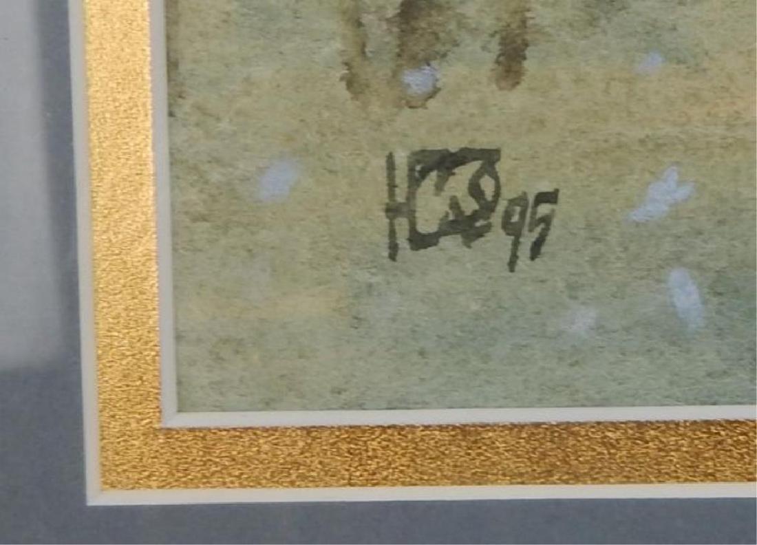 """Water Color Signed """"Rhein-Sleg-Kreis"""" - 3"""