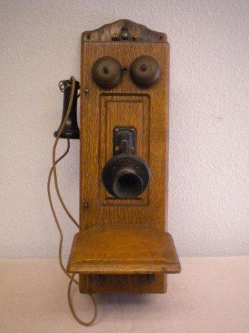 2: C3-26 ANTIQUE OAK TELEPHONE