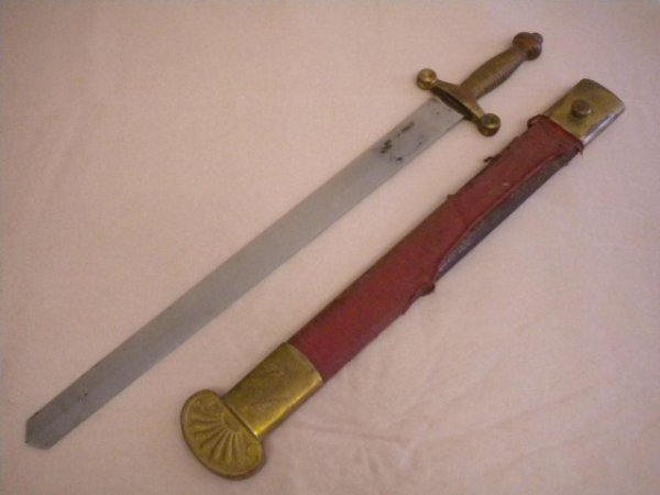 572: A5-72 SWORD WITH RED CLOTH SHEATH