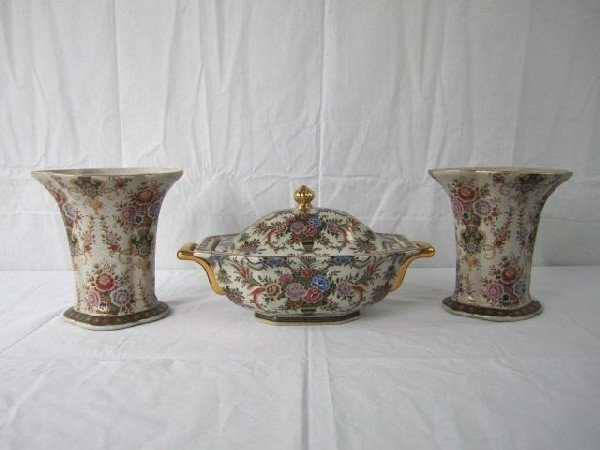 1001: A4-8  3 PIECE CHINESE EXPORT SET