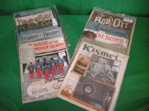 1253: A8-34 LOT OF 10 ASSORTED SHEET MUSIC