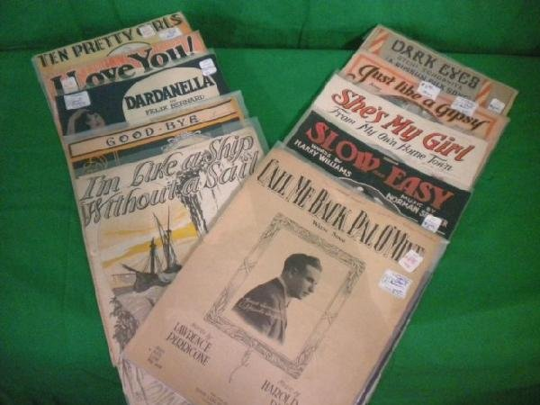 1254: A8-33 LOT OF 10 ASSORTED SHEET MUSIC