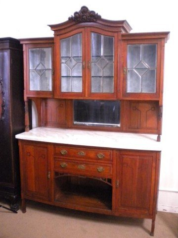 1303: A8-2 ANTIQUE HAND CRAFTED ENGLISH BUFFET