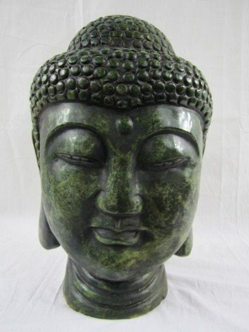 12: A29-4 SOLID JADE BUST OF LADY