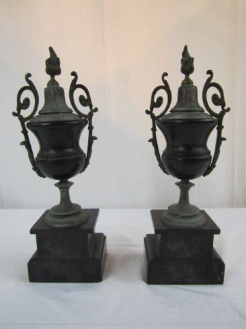 21: A4-11 PAIR OF FRENCH MARBLE GARNISHERS