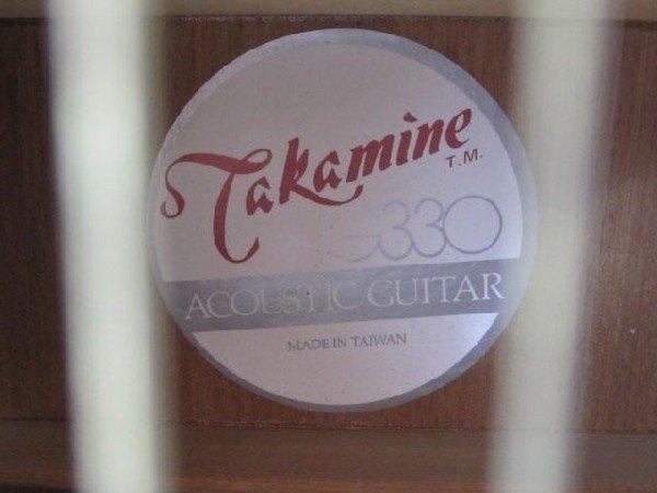 57: C2-7 TAKAMINE ACOUSTIC GUITAR MODEL #G330 - 10